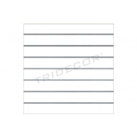 Panel de lamas blanco mate120x120 cm. Tridecor