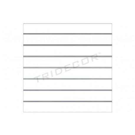 Panell de fulles mat blanc 7.5 guies. 120x120 cm Tridecor
