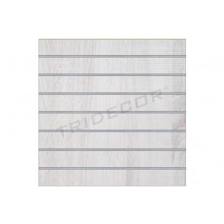 Panell de lames, de roure w 120x120. Tridecor