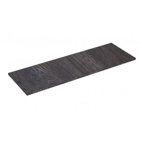 Prateleira de madeira oak escuro 120x40cm 19mm