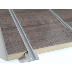 Panel blade wood oak dark 7 guides 120x120 cm
