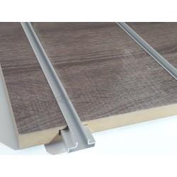 Panneau de lame de bois de chêne foncé 7 guides 120x120 cm