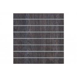 Painel de lamas madeira oak escuro 7 guias 120x120 cm