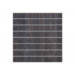 Panel de lamas madera oak oscuro 7.5 guías 120x120 cm
