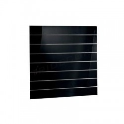 Panel de lamas negro brillo 120x120 cm. Tridecor