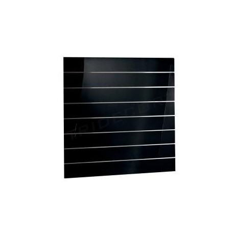 Panel de lamas negro brillo 120x120 cm. Tridecor