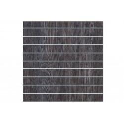 Panell de lames de roure fosc 9 guies 120x120cm. Tridecor