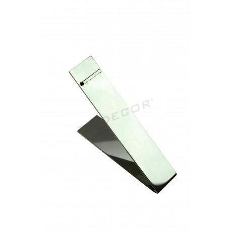 Expositor calzado rectangular de acero cromado, tridecor