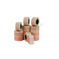 Etiqueta blanca, 1 linea, 26x12mm. 8 rollos, tridecor