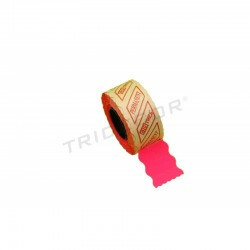 LABEL FUCHSIA, 2 LINES,26X16MM 12 ROLLS