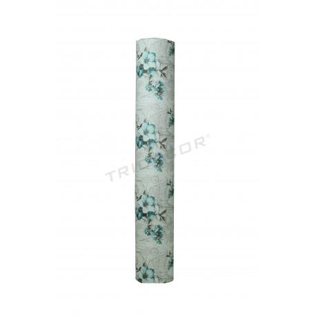 Papel de presente com estampa floral 62cm