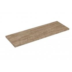 Shelf wood oak clear 90x30cm