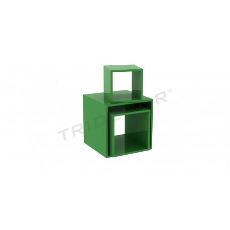 Cub quadrat verd diverses mesures