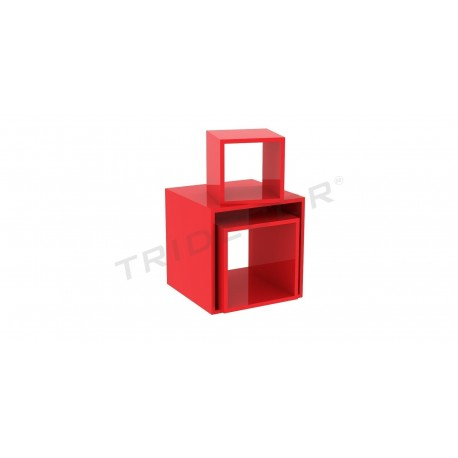 Square cube color oak red several measures