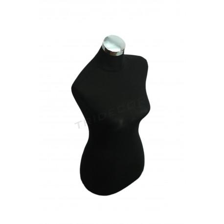 胸的女人黑色布料