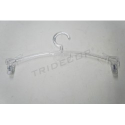 HANGER MADE OF PLASTIC WITH CLIPS FOR LINGERIE 27.5 CM 5UDS