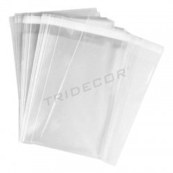 袋35X45+5厘米翼板的粘合剂,100UDS