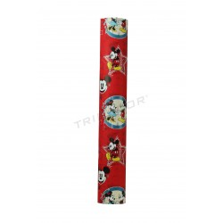Papel de presente infantil com estampa do mickey 62cm
