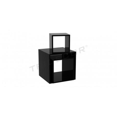Cubo cuadrado color negro varias medidas