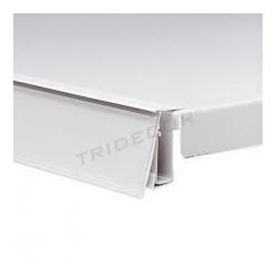 013188 Portaprecio para estantería de metal 120 cm. Tridecor