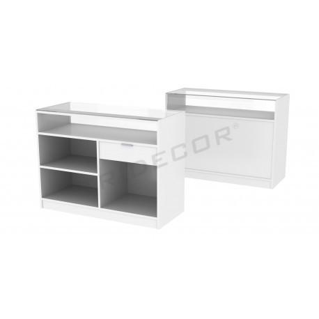 Countertop color-white, 120 cm, tridecor