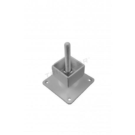 006203 Base regulable para cremallera cuadrada . Tridecor