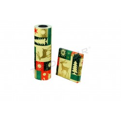 Wrapping paper-print reindeer 31cm