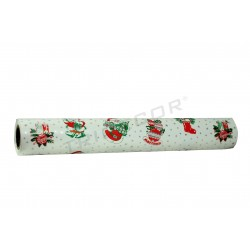 Gift wrapping paper santa claus white with silver stars 62cm