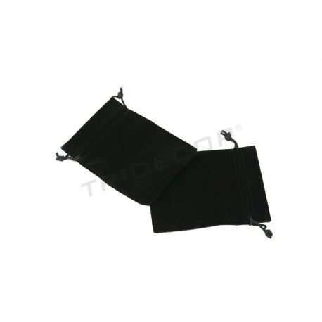 Bolsa joyeria, terciopelo negro, 12x16cm. 20 uds, tridecor