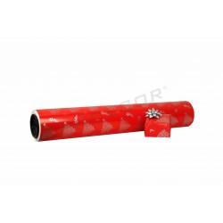 Papel de presente de natal vermelho/prata 62cm