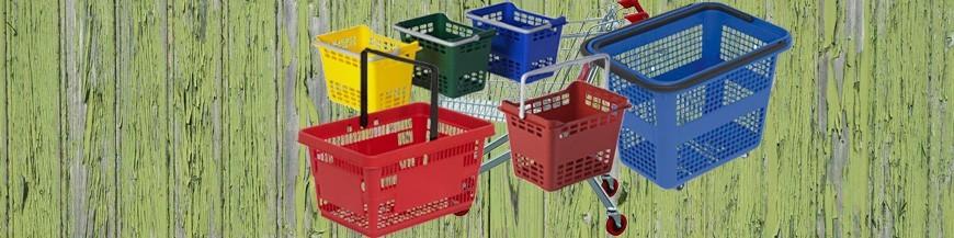 Carros e cestas da compra