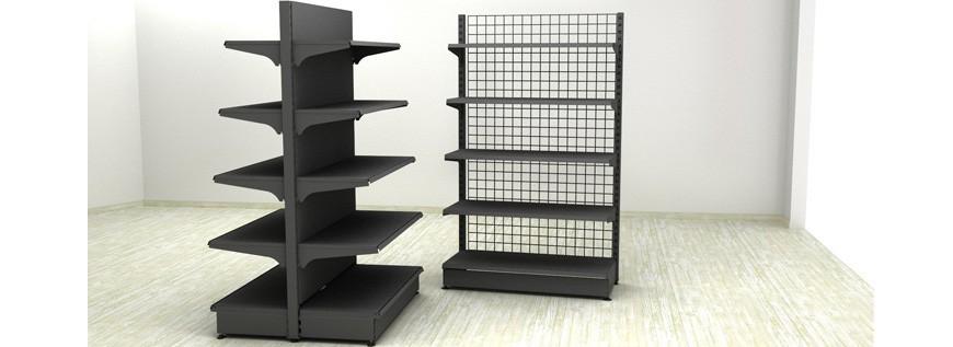 Metal shelving-gray color