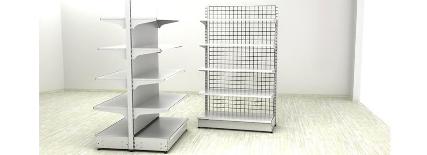 Les étagères en métal de couleur blanc